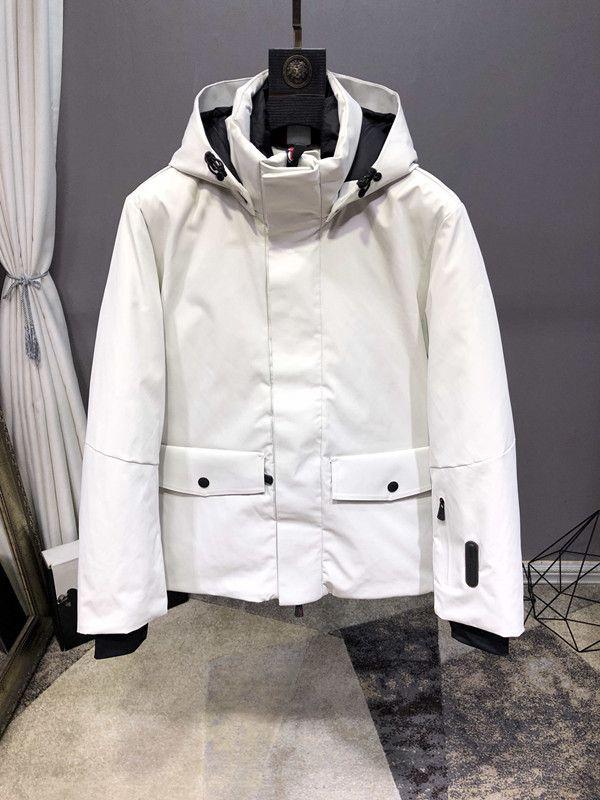 Nuovo inverno giù il cappello giacca per gli uomini può essere staccabile antivento impermeabile caldo e cappotto di spessore