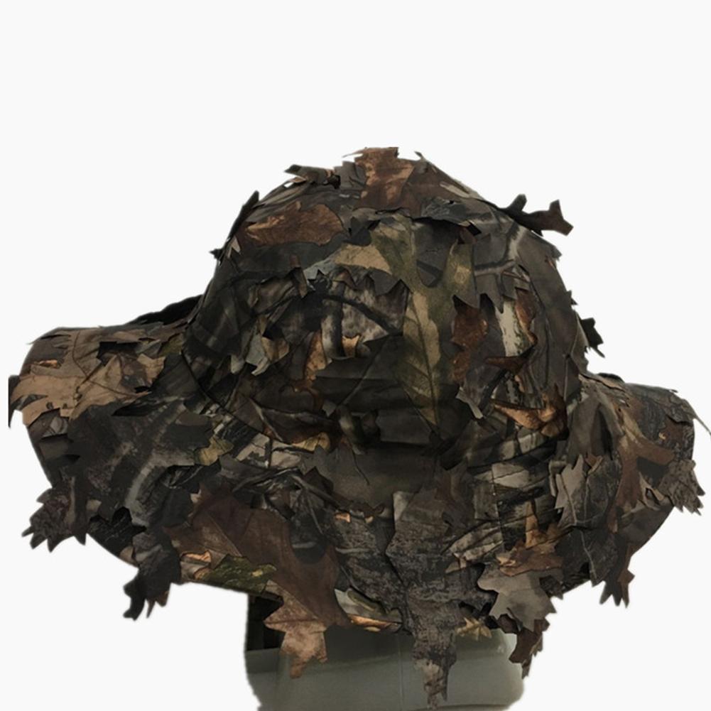 Охота Hat Военных игры Камуфляж Эффект кепка взрослые 3D Листы Защита от солнца