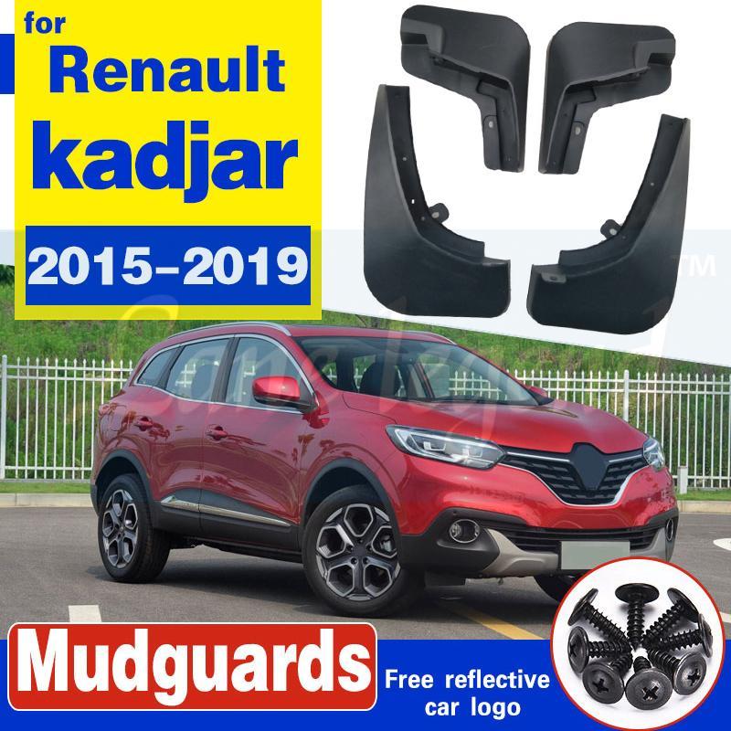 4pcs Garde-boue arrière avant voiture Fusées Garde-boue boue boue Flaps Flaps Renault garde-boue pour Kadjar 2015 2016 2017 2018 2019