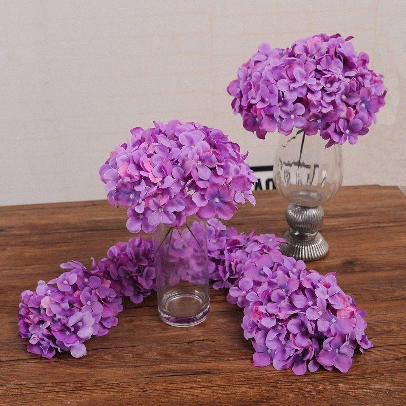 11pcs Bunte dekorative Blume für Hochzeit Artificial Hydrangea Silk DIY Blumen-Dekoration für Haus N835 #