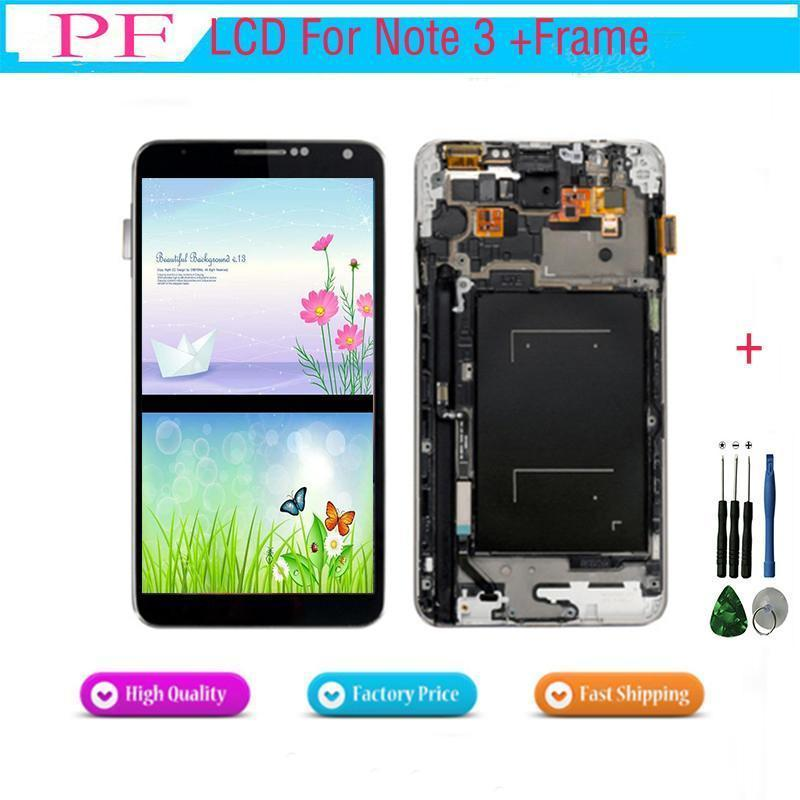 Lcd Display For Samsung Galaxy Note3 N900 N9000 N9005 N900a Lcd Touch Screen Digitizer Assembly Replacement Brightness Adjusted Repair Tool