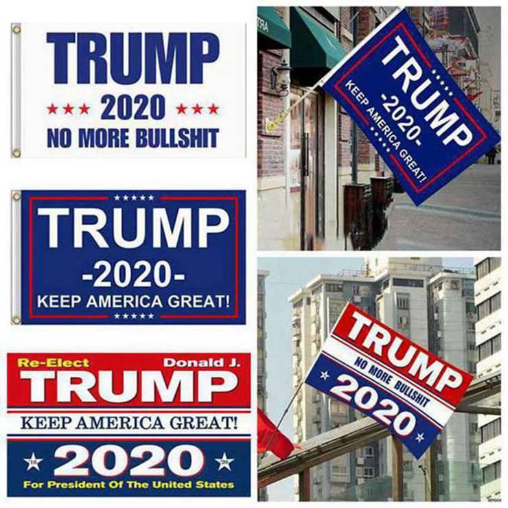 5 конструкций прямого завода 3x5 Ft 90 * 150 см держать америку большой Donald Trump флаг 2020 года президент США 300pcs