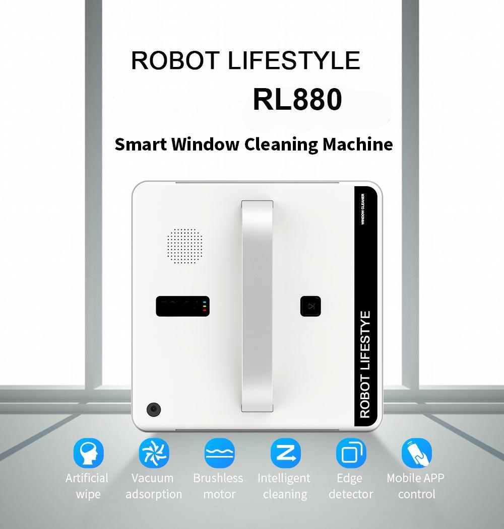 Роботизированная Window Cleaner пылесос Смарт Планируемый тип Wifi App Окно управления для чистки стекла Robot 100 - 240В