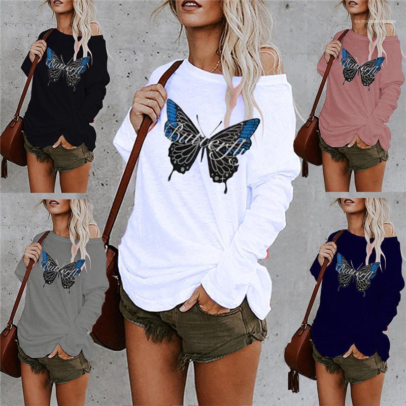 Parti superiori di modo più le donne Abbigliamento Donna 2020 di lusso del progettista magliette Primavera Autunno manica lunga Stampa allentato Tees
