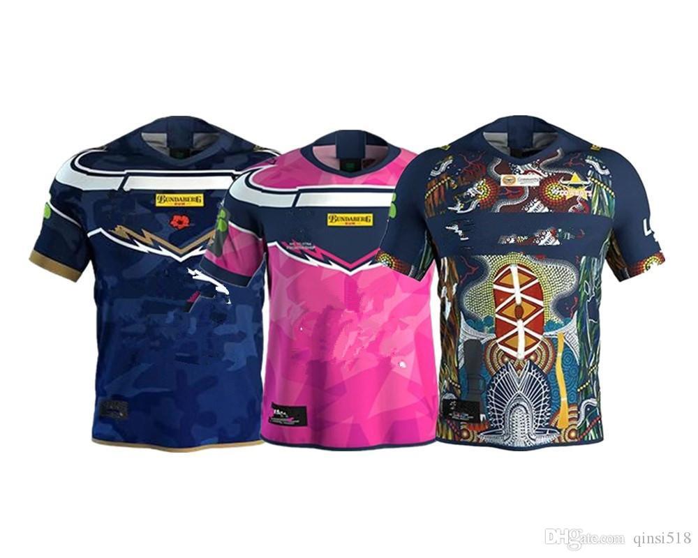 North Queensland Cowboys Jersey de rugby 2019 tamaño S-XXXL nombre de impresión personalizada y el número de la calidad es perfecta