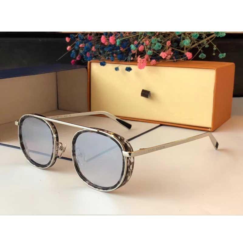 Новые дамы дизайнер очки Z2340 круглой рамки конфигурация роскоши личности верхнего качества на открытый воздух очки с UV400 объективом
