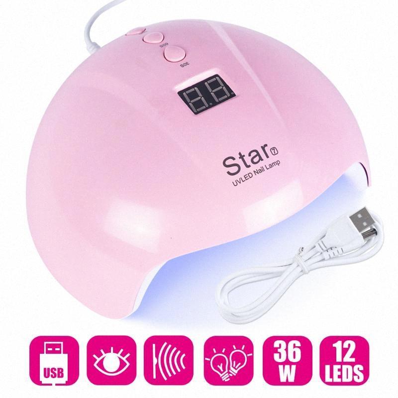36W ногтей Сушилка UV LED лампы для ногтей Отверждение Все Гель лак маникюрный Sun Light USB Мини-сушильное оборудование Nail Art Инструменты LAStar7 h8Q3 #