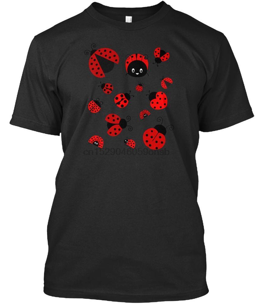 Männer-T-Shirt Entzückende Marienkäfer überall Shirt Frauen Frauen T-Shirt