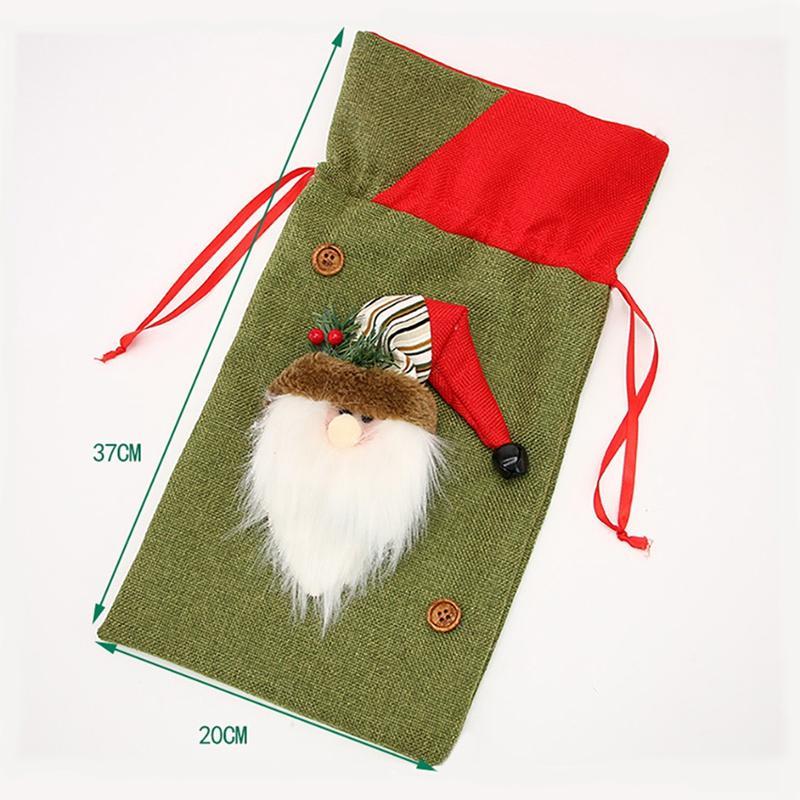 Noel Hediyesi Çanta Noel Baba Doll Üç boyutlu Çanta Noel Çocuk Şeker Hediye