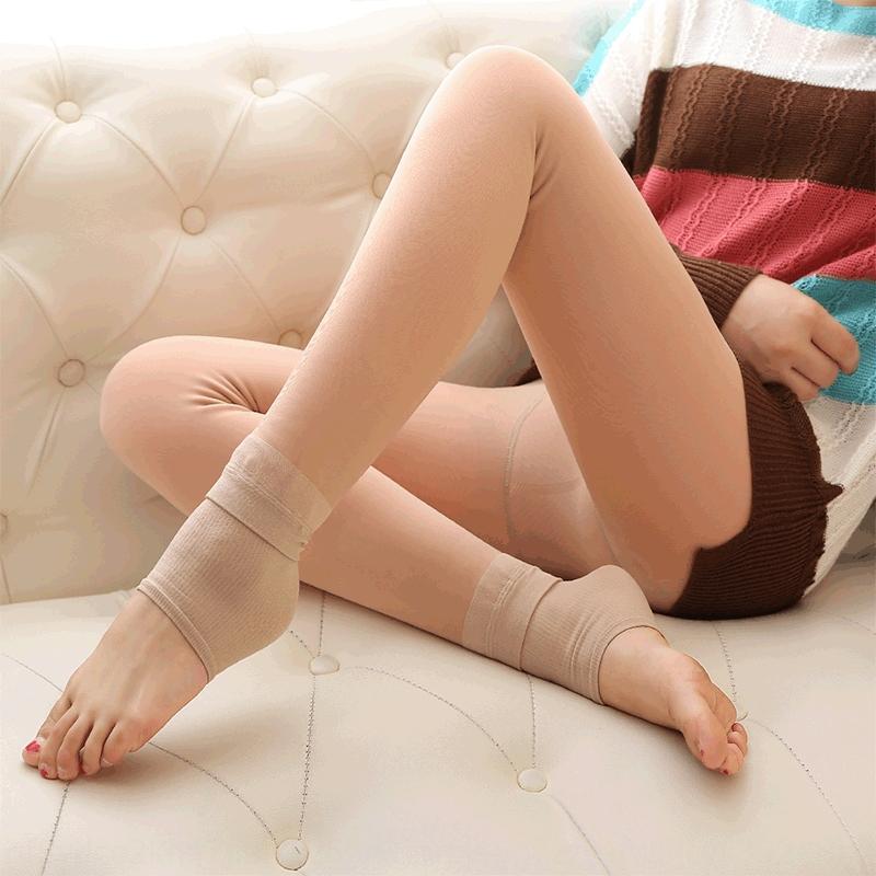 izqU2 FG49O hiver épaissie faux polaire ajoutée chair de lumière transparent jambe artefact peau ajoutée bikini épaissie pantalon salopette double face B