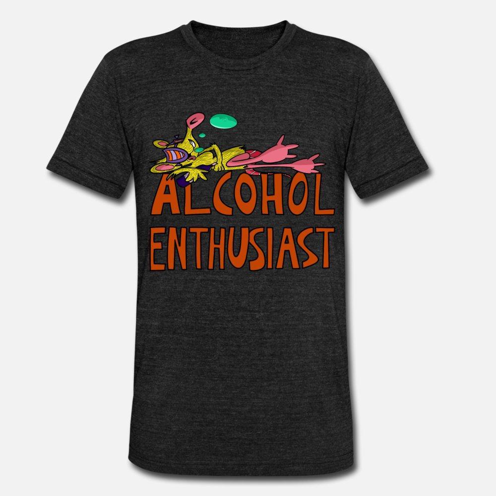 shirt homme passionné t alcool coton sur mesure S-3XL unisexe fou confortable chemise de style Lettre d'été