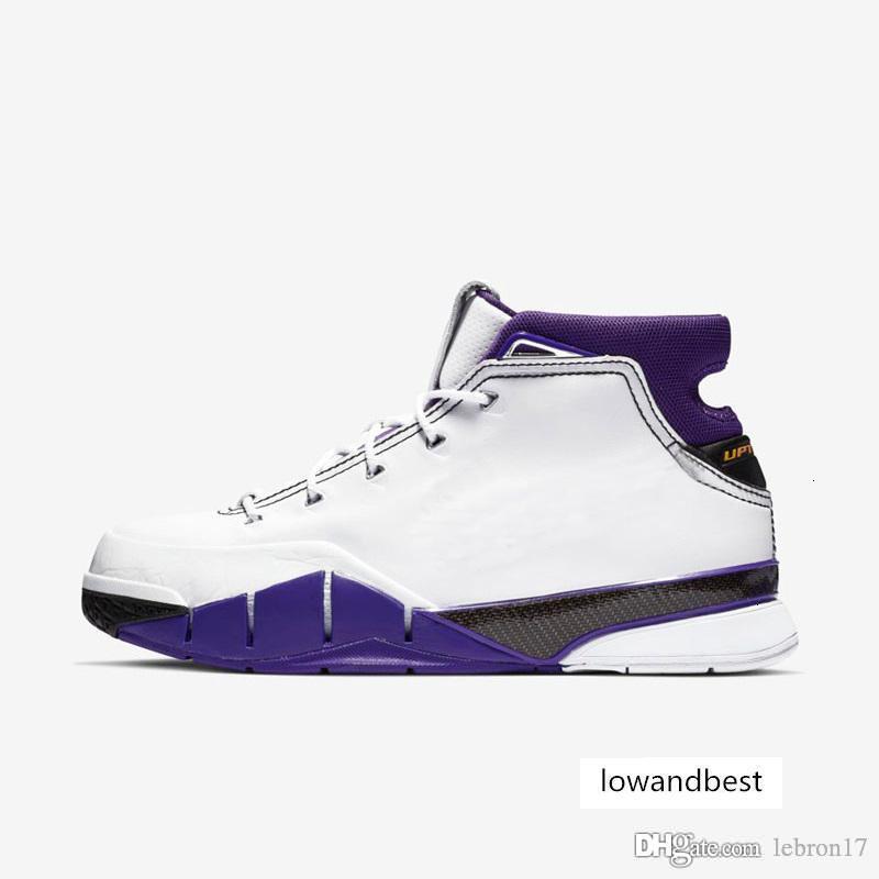 Дешевые мужские ZK1 Bryants protro баскетбол обувь KB1 Белый Фиолетовый Черный 81 Очки команды Red Gray цвета ZK 1S кроссовки теннис