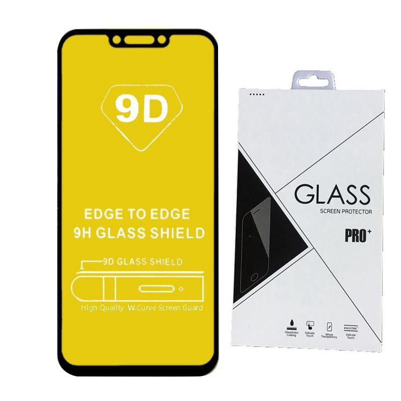 Cgjxs Retail Pack PARFAITEMENT 6d 9dtempered verre Screen Protector Ab colle bord à bord pour Huawei Honor Magic 2 Jouer Y7 2019 Y9 2019 600pcs
