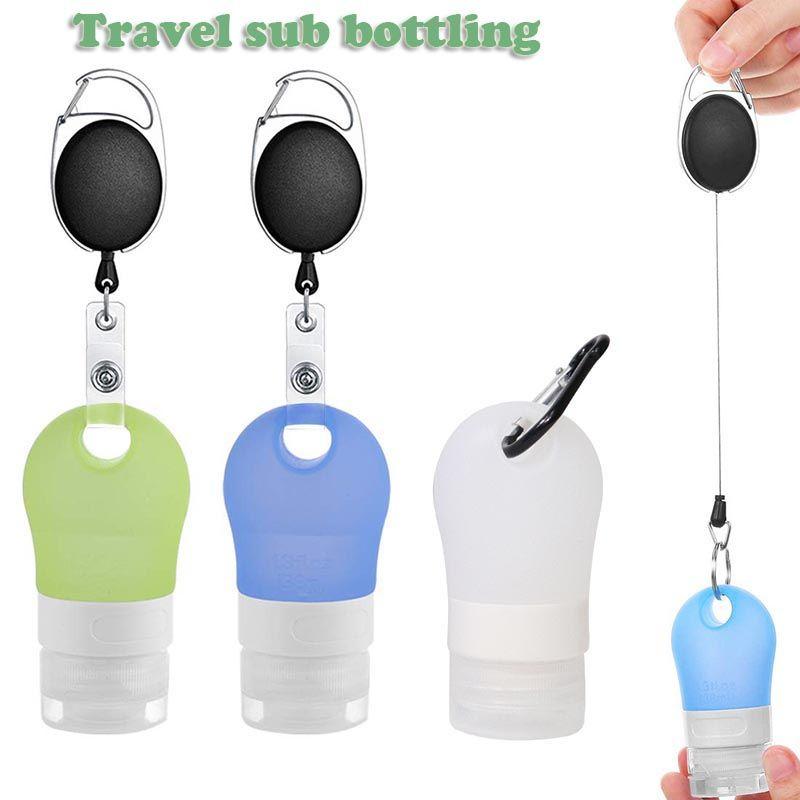 Konteyner 38 mi 90ml AAE1837 Ambalaj Seyahat taşınabilir silikon şişe Alt Şişe şampuan duş jeli kozmetik şişe Taşınabilir Mini Seyahat