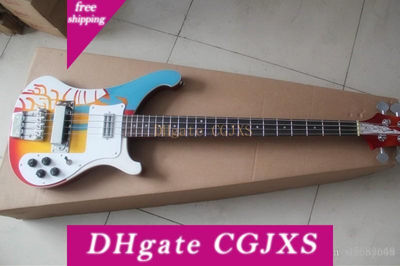 Spezielle Bass-Gitarren-Muster mit weißen Pickup, Palisander Griffbrett, Chrome Hardware, Angebote Fabrik Individuelle Angebote