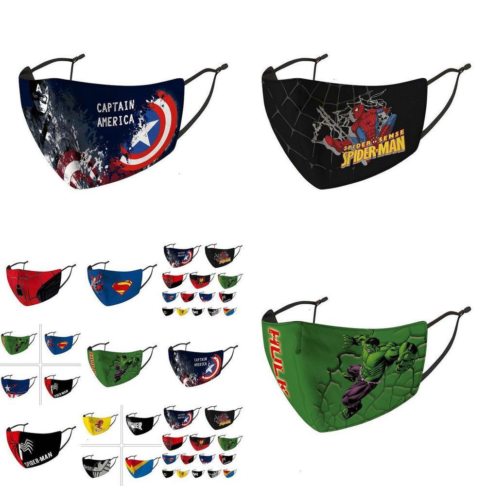 Los niños de la motocicleta de la cara Pañuelos Máscara Diseñador Riding Frío Protección Nueva Spiderman Batman Superhéroe capitán Niño Escudo Nahly en Stock58551