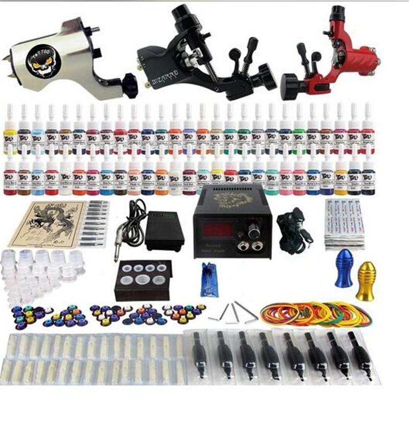 공장 완료 문신 키트 3 프로 로터리 기계 총 54 잉크 전원 공급 장치 바늘 그립 TK355