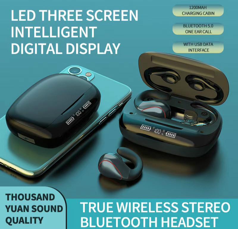 Schermo 5.0 Auricolari LED TWS senza fili Bluetooth Touch Control auricolari Auto Pairing Gaming cuffie con microfono Charging Box T20