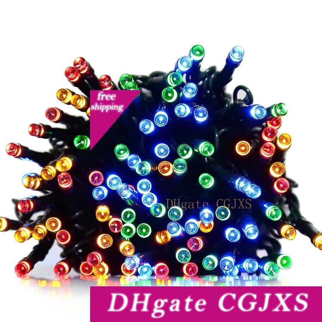 Pil Led Işıklar Çok Renkli 8 Modlar 200 Led Su geçirmez Dize Işık Noel Bahçe Düğün Dekorasyon İşletilen