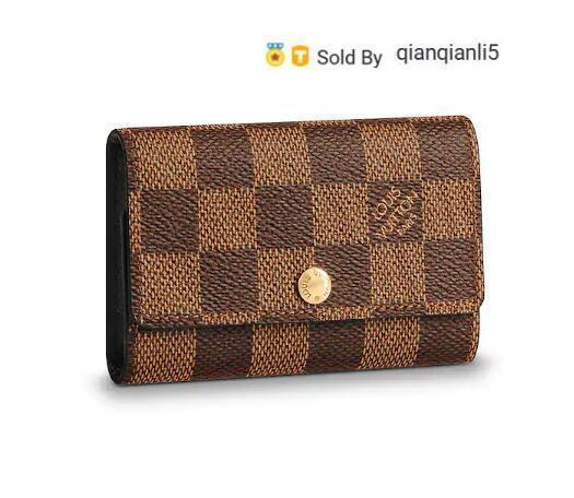qianqianli5 G352 6 KEY HOLDER N62630 Men Belt Bags EXOTIC LEATHER BAGS ICONIC BAGS CLUTCHES Portfolio WALLETS PURSE