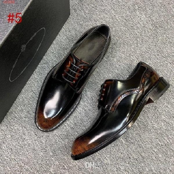 `2020 vestido de couro de patente sapatos de Luxo Super projeto Handmade Homens Oxford Sapatos de alta qualidade dedo apontado sapatos Fashion Business