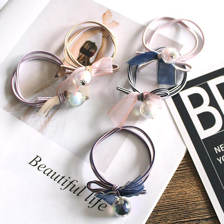 anello DHL semplice letteratura e cristallo arte pizzo palla legame nastro di gomma corda capelli banda larga a righe capelli copricapo