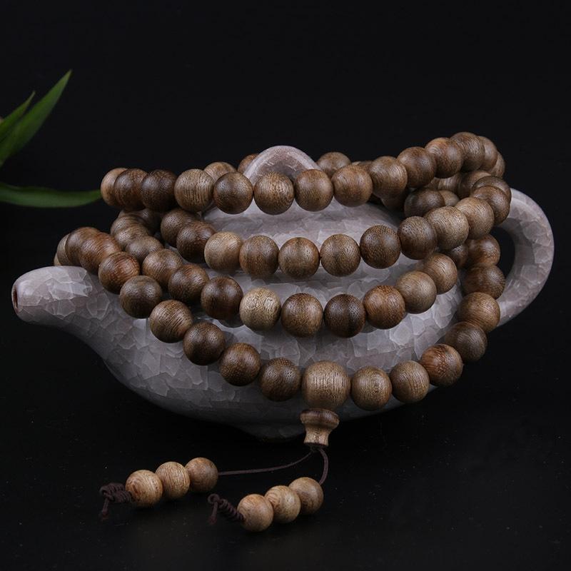 aUxtf Malaysian Agarwood Rosenkranz Armband Perlen Halskette Armband Halskette 108 Männer und Frauen Halsketten Buddha Perlen agarwood Sandelholz s