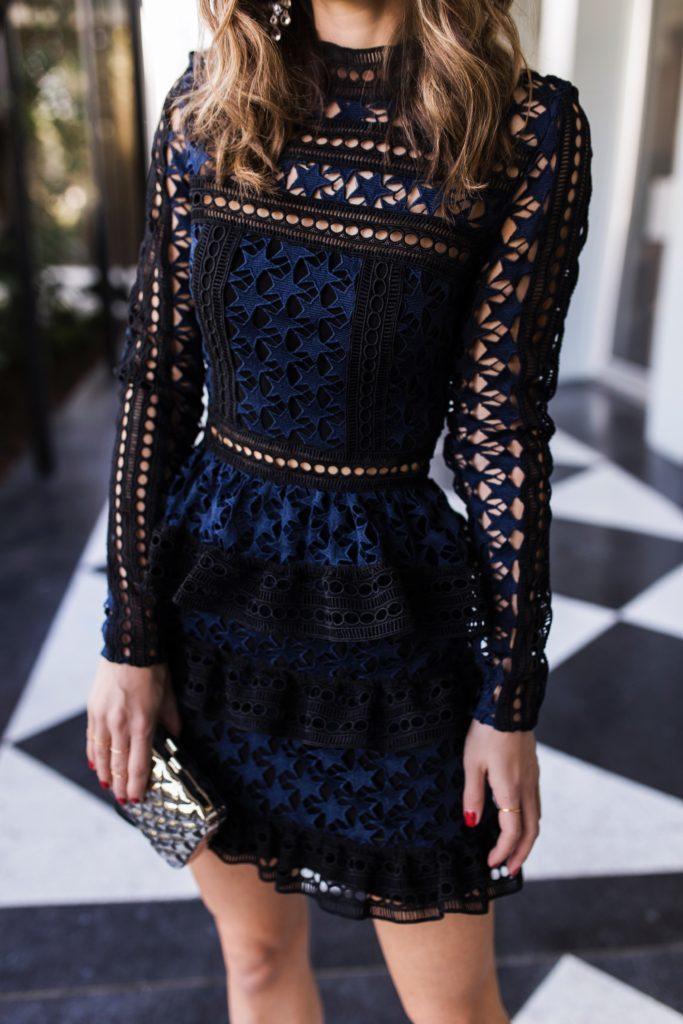 ZAWFL ВЫСОКОМАРОЧНОЕ Автопортрет платье 2020 Женщины носят длинные рукава Cake Layer Элегантный летний клуб платье Одеяния Femmes Soldes LJ200827