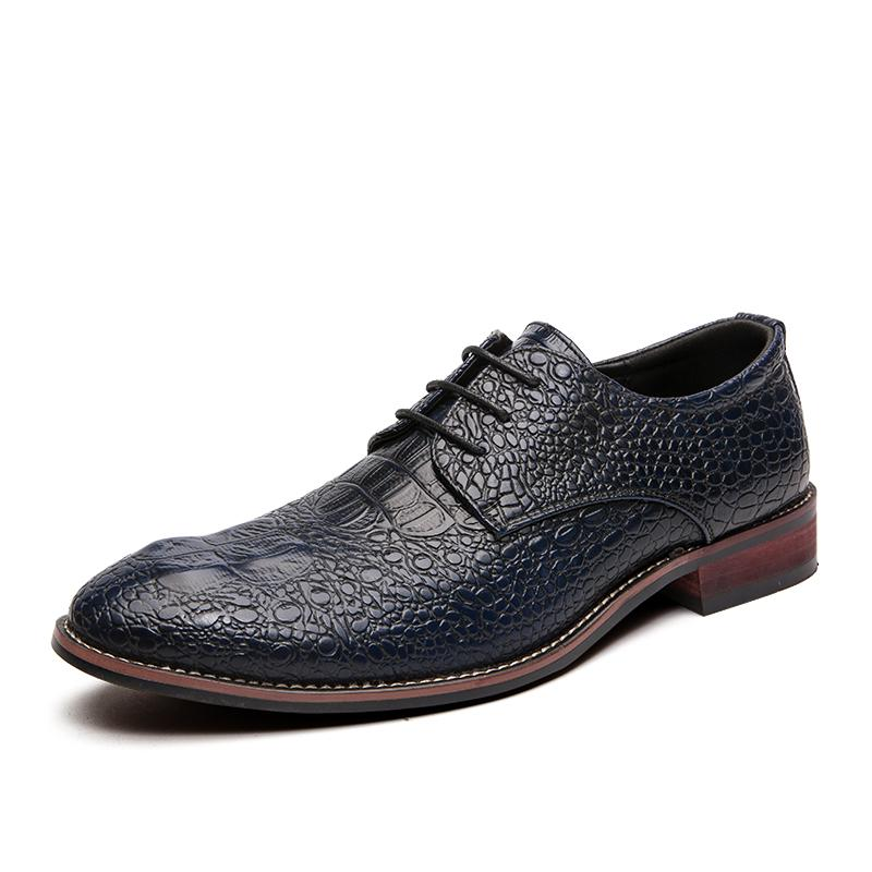 sapatos de couro dos homens casuais grande laço acima moda apontou top formais pé fixo de casamento de negócios sapatos de alta planas 38-48