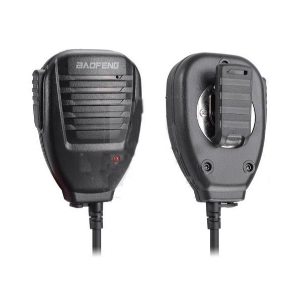 by DHL or EMS 50 pieces BaoFeng Mic Microphone 2-way Radio Speaker for UV-5R/UV-3R Walkie Talkie mini speaker