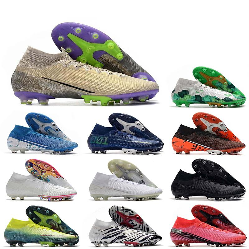 2020 Mens Mercurial Superfly VII 7 Elite Knit 360 AG CR7 Ronaldo Mbappe Bondy Dream Speed 001 002 Scarpe da calcio Scarpe da calcio Tacchetti