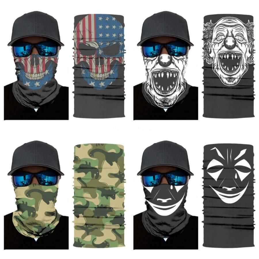 3D sin fisuras del pañuelo de la bandera nacional de EE.UU. Reino Unido Francia Cualquiera multifuncional mágica del pañuelo de la bufanda del cráneo de la motocicleta de mascarillas de esquí pasamontañas # 765