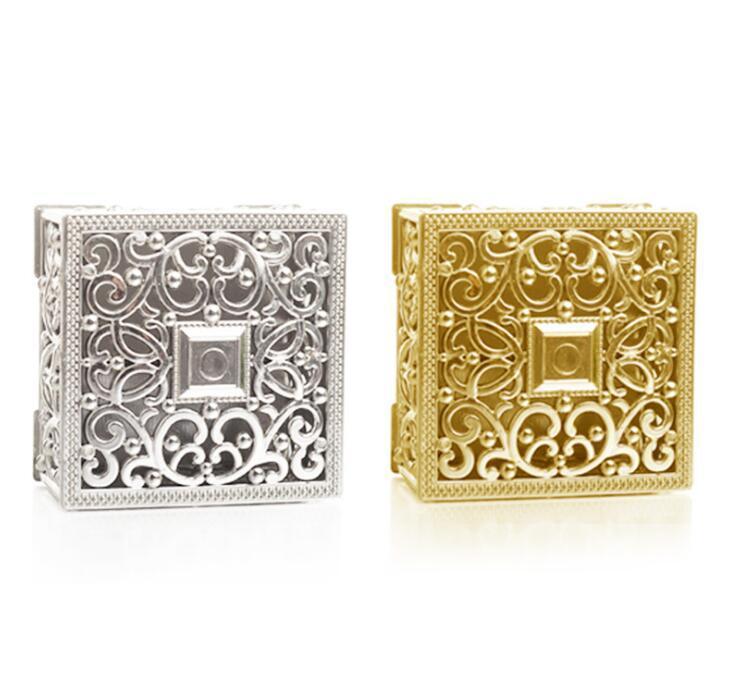 2020 chocolate de la vendimia Cajas caramelo de la boda de almacenamiento de Caja hueco chapado en oro plateado Decoración Suministros DHD496