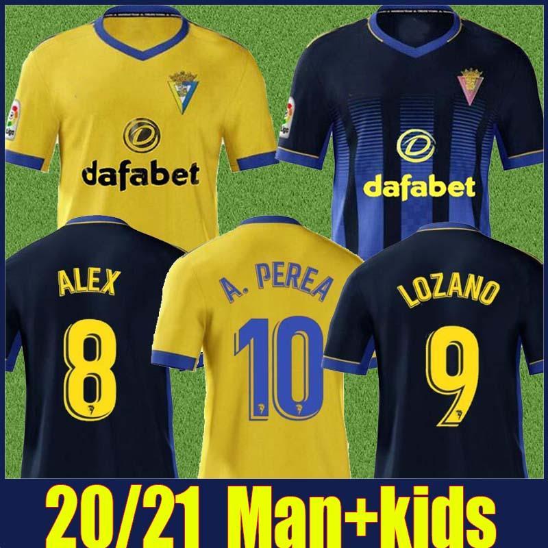 2020 Camiseta دي كاديز عدة رجال الاطفال جيرسي LOZANO ALEX BODIGER كرة القدم جيرسي نادي قادش A.PEREA I.ALEJO فالي JUAN CALA لكرة القدم جيرسي 20/21