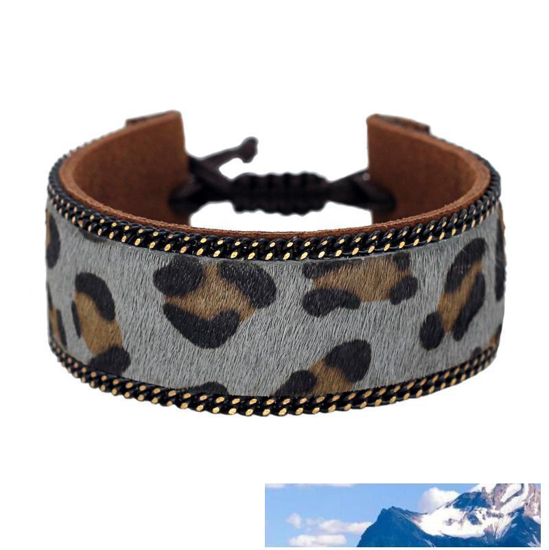 All'ingrosso Retro in pelle marrone della donna Bracciali di alta qualità leopardo modello morbido Accessori estate comodo per la femmina
