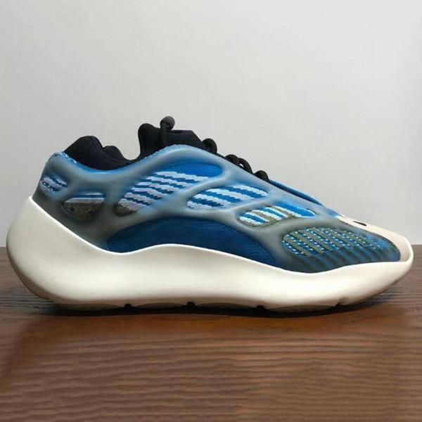 2020 Kanye West 500 700 V3 Mens Azael Alvah Azareth Inércia Preto V2 Runner MNVN Phosphor Laranja óssea Womens Sneakers w5Cm #