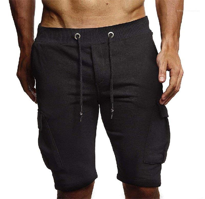 Länge Solid Color Male Kleidung Lässige Pakete Aktive Herren Shorts Relaxed Herren Designer Shorts Kordelzug Knie
