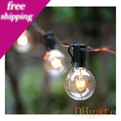 G40 Luzes Cordas com 25 Globe Lâmpadas -Ul coletados para Indoor / Outdoor Decor comercial, luzes de casamento, Pátio Lights, Outdoor Luz Cordas