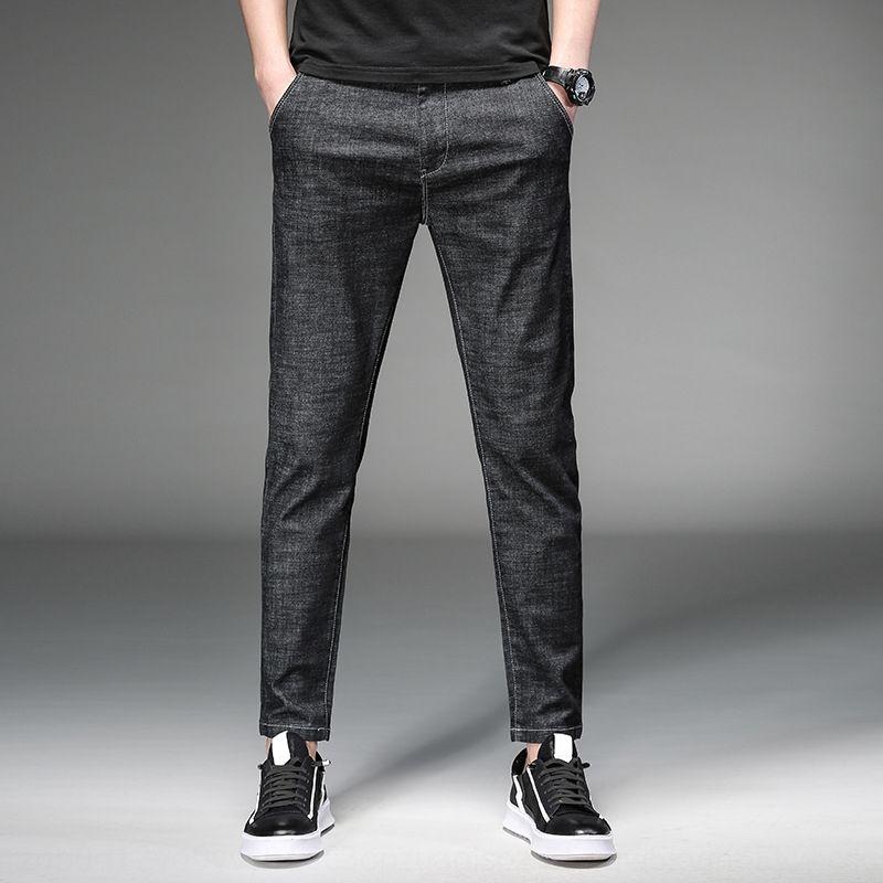 ocasional apertado AFcdY nova primavera dos homens Macacões casual calças leggings juventude moda denim harém calças macacões da moda 1908