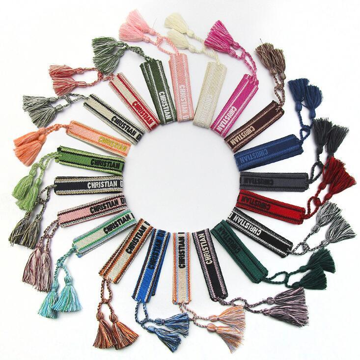 Тканый браслет ручной работа Веревка Hit Цвет Экзотические Вышитая Дважды - сторонняя Плетеные браслеты для женщин чести Maid Честь рук канаты DHD1071