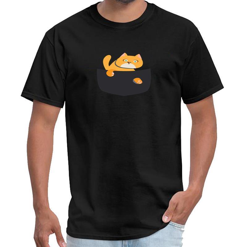 Imprimé Chat dans les hommes de T-shirt de Rupaul de poche u2 t-shirt grande taille ~ tops tee 5XL