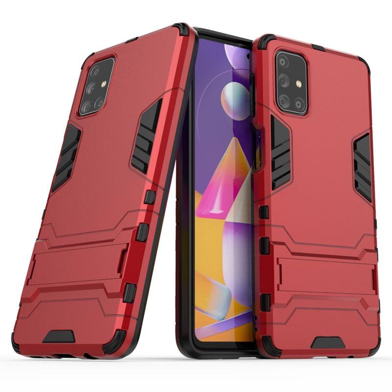 couverture hybride Béquille Anti Shock Defender Armure TPU + PC pour Samsung Galaxy M31S A01 BASE A21S A51 A71 A11 A41 5G A70E 160pcs / lot