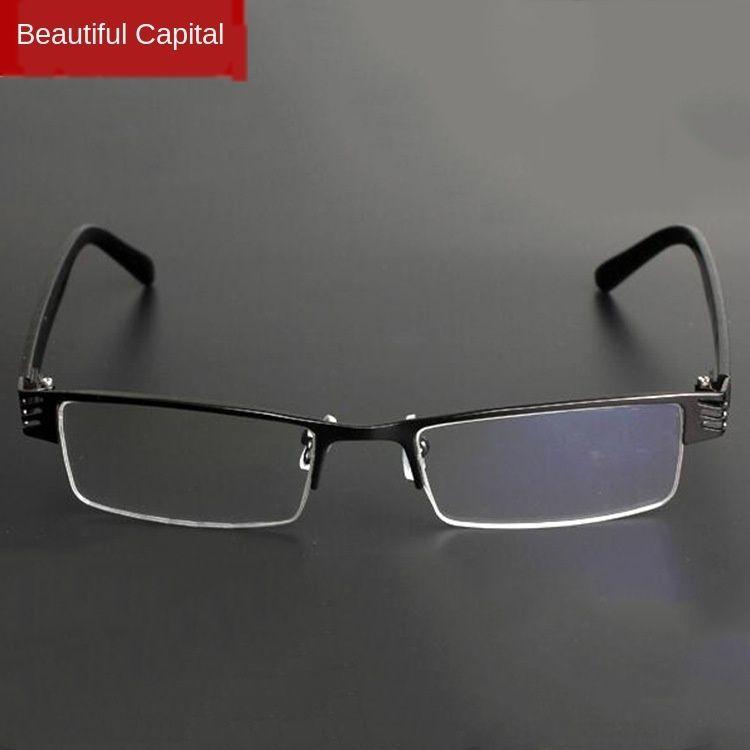Miyop butik Ultra Hafif Reçine yarı anti-yorgunluk miyopi gözlük erkek ve kadın yarım çerçeve gözlük çerçevesi