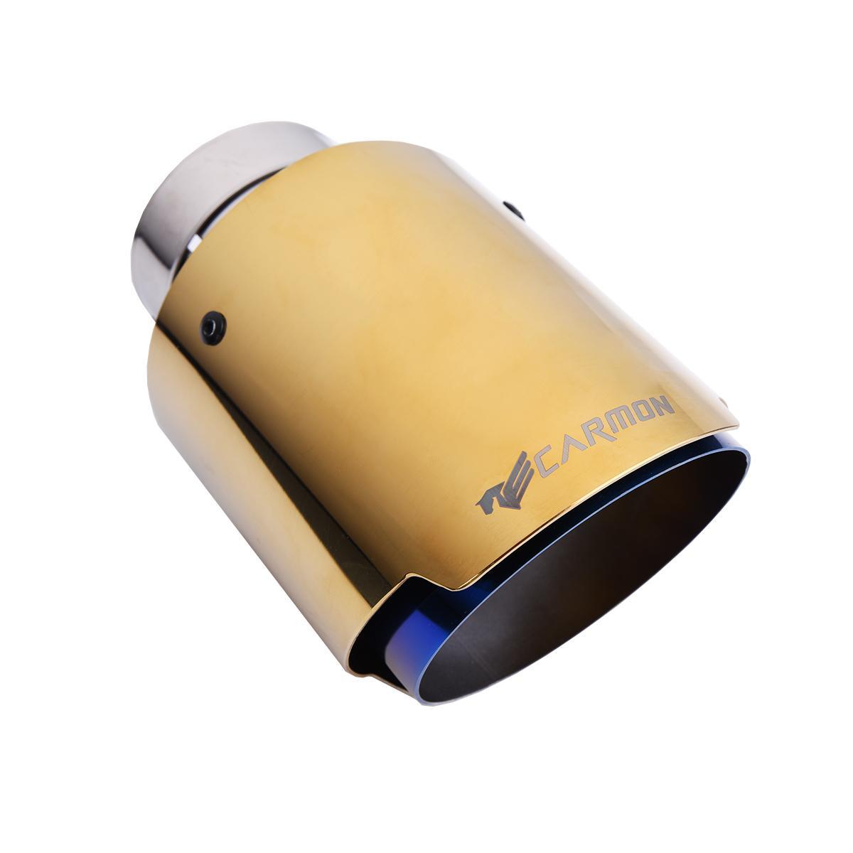عوادم السيارات العالمي المحرقة الأزرق الفولاذ المقاوم للصدأ نصيحة الغلاف اللون الذهبي الخمار نصيحة للBMW BENZ أودي فولكس فاجن جولف أجزاء