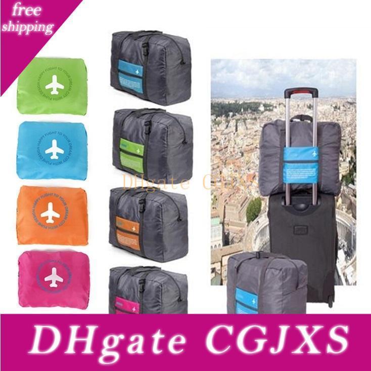 Bolsa plegable portátil de viaje bolsa de gran tamaño de guarda equipaje Bolsas de ultramarinos reutilizable bolsas de mano Eco -Friendly bolsa Corpulento bolsa de lona