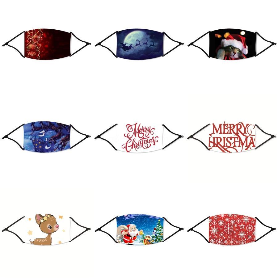 Moda Viso Natale mascherina mascherine di protezione Per S con la radura Finestra Lip Lingua Visibile cotone Bocca Volto di Natale lavabile e riutilizzabile # 88433