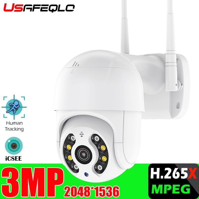 Новый 3МП Dual-объектив PTZ Wifi камеры Открытый автоматического слежения Облако CCTV Главная безопасности IP-камера 3МП Увеличить Audio Speed Dome