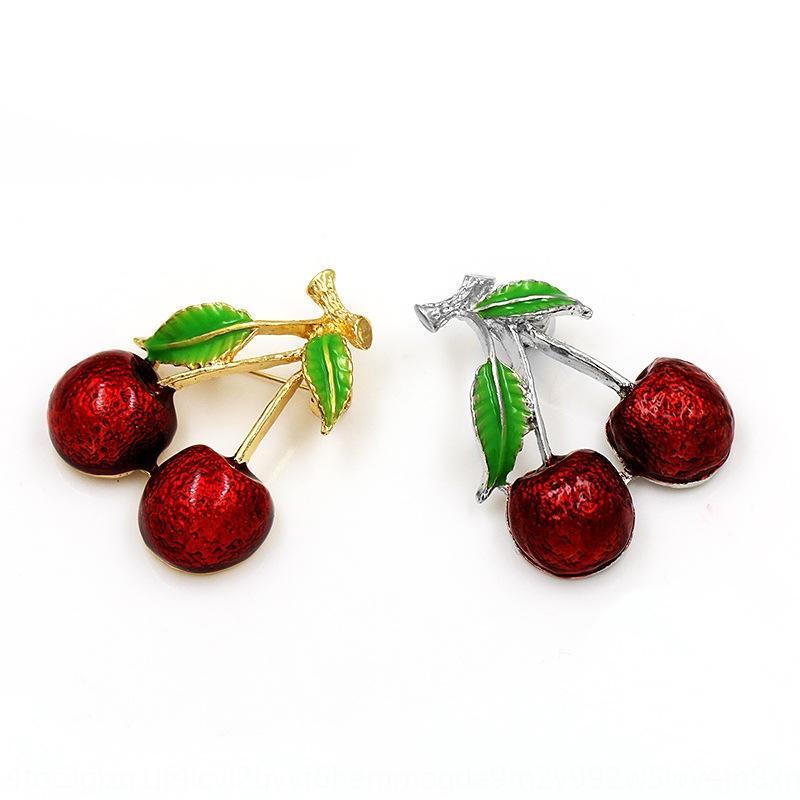 kadınlar ryaQA için Damlayan broş meyve Aksesuarlar meyve moda yaratıcı bitki Cherry broş popüler giyim aksesuarları pim