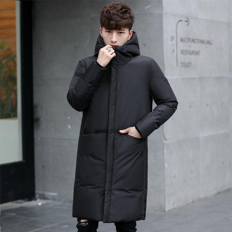 blanco chaqueta ropa de la marca de los nuevos hombres gruesos de invierno con capucha negro Gary caliente largo de pato blanco abajo abrigos masculino de la capa 200924
