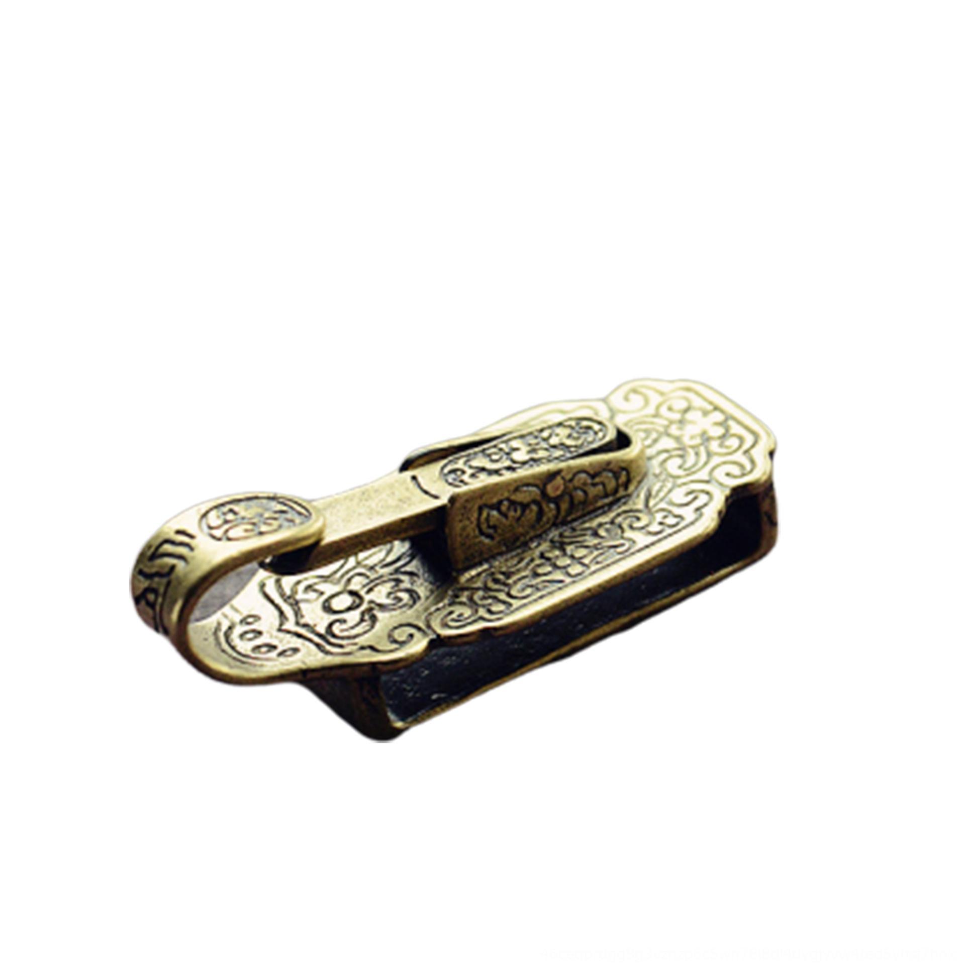 Pure copper Manqing doordangshao knife hanging waist plate jade pendant brass belt key pendant